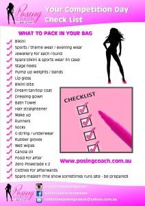 Fitness & Bikini Model Competition Day Check List