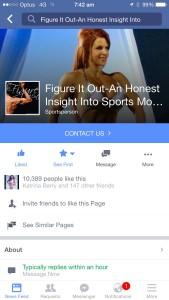 FIO Body building Facebook page