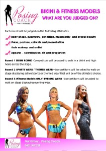 Fitness and bikini models- what are you judged on?
