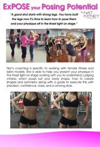 Fitness and bikini model posing coaching information