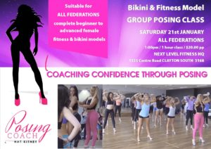 Fitness Bikini & sports model group posing class & workshop