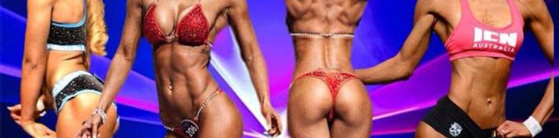 WFF PCA Stage T Walk Bikini Sport Fitness Models Posing