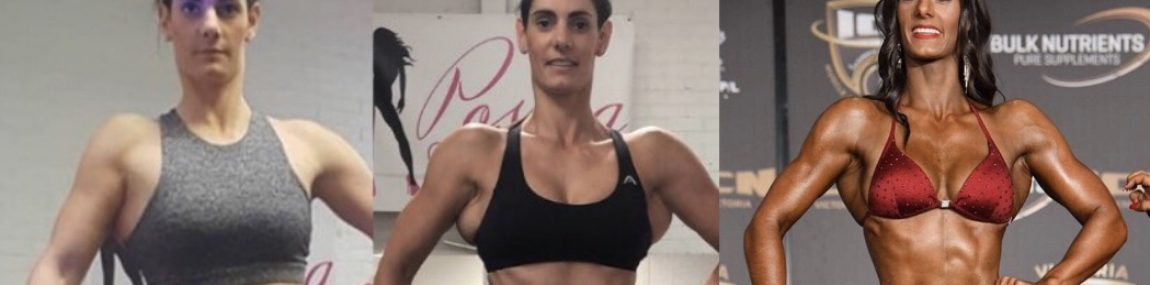 Bikini Fitness Figure Lat Activation Posing