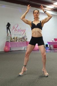 figure pose front double bicep