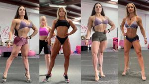 Different front on poses for wellness body building