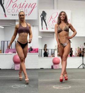 Modelling and cat walking bikini