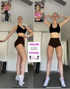 Online posing video call
